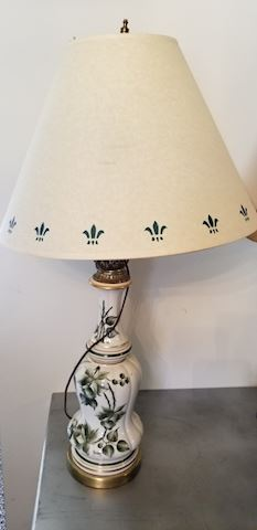 side end table lamp floral