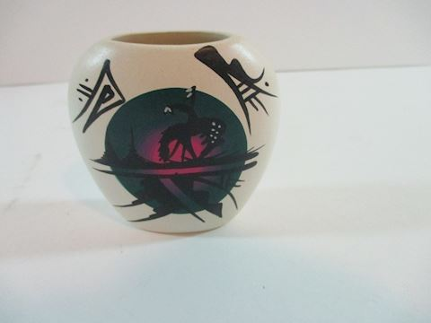 Minature Pottery Vase Signed