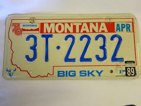 1989 MT Plate (Billings area)