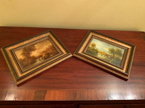 2 Small Framed Landscape Pictures
