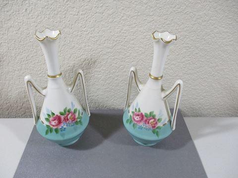"Vintage Weisley two handled Vase Signed 71/2"""