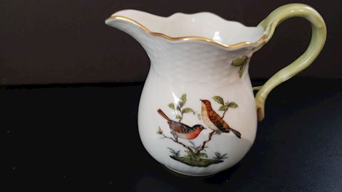 "HEREND ROTHSCHILD BIRDS 1642 RO 3-3/4"" CREAMER"""