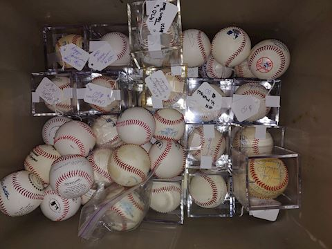 New York Yankee's Autographed Balls