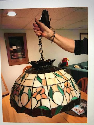 Hanging  stained glass fixture