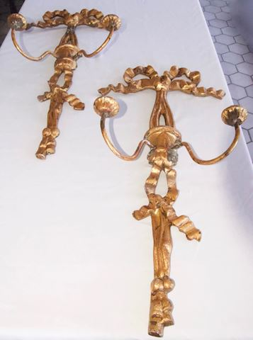 Pair of Gold Sconces