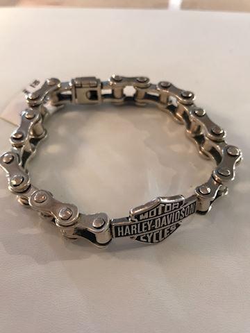 Harley Davidson Sterling chain link mens bracelet