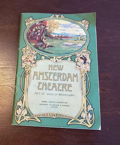 1928 NEW AMSTERDAM THEATRE PROGRAM/PAYBILL