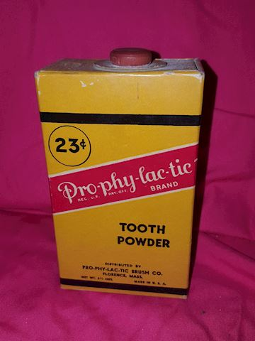 Vintage Prophylactic tooth powder -cardboard box