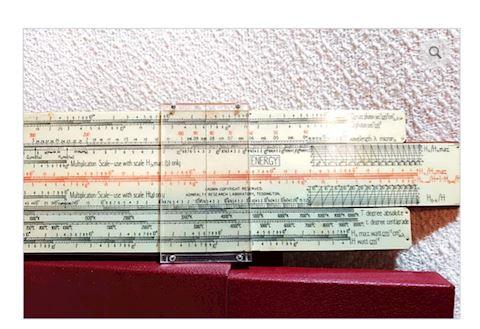 VINTAGE RADIAC SLIDE RULE NUCLEAR FISSION