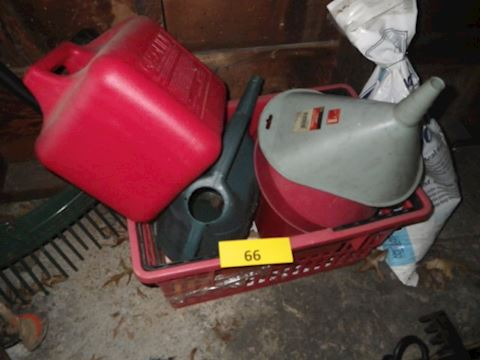 Lot #66 - Gas Cans and More (Garage)