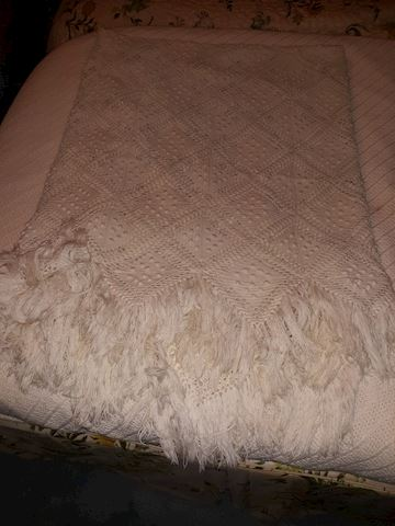 """MB  334   """"Crocheted Twin Bed Cover"""""""