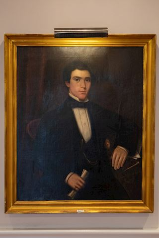Lot 0027 Portrait of a young man oil on canvas
