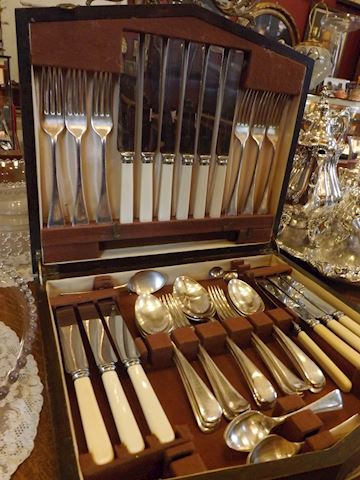 English Sheffield Flatware Set for 6