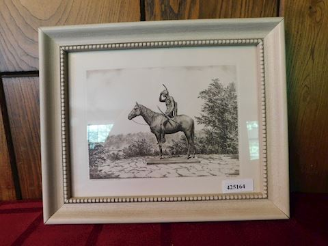 "164 Framed Picture ""Scout the Horse"""