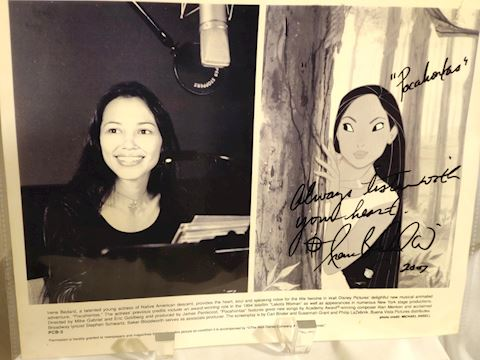 Original Pocahontas, Irene Bedard Signed Photo