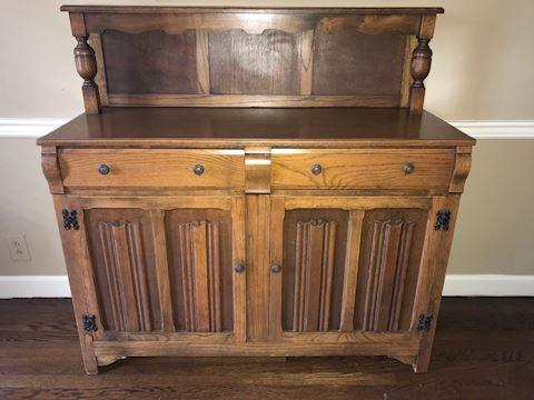 Antique Carved Oak Sideboard