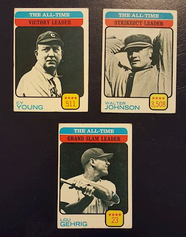 Lot of 3 Old Baseball Card Stars Cy Young & more