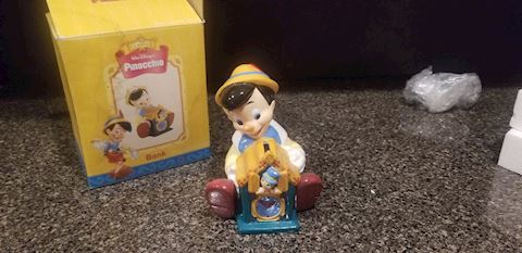 Walt Disney Treasure Craft Pinocchio Bank