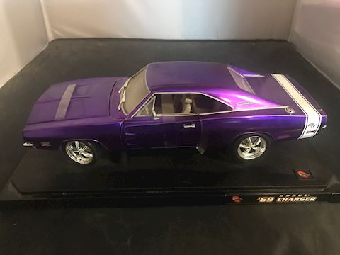 69 Dodge Charger (Hot Wheels) 1/18 Scale Purple
