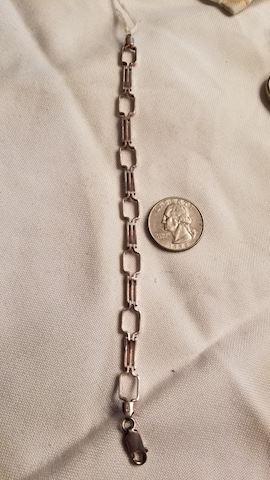 Sterling deco bracelet