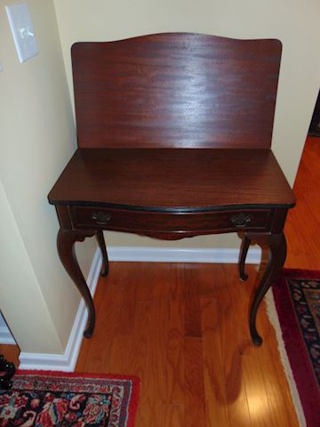 Antique mahogany gaming table