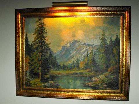 Minnesota Landscape Oil on Canvas Elmer S Berge