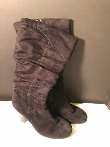 Pre-owned Jazzberry sz 11, blk tall boots