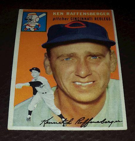1954 Ken Raffensberger Redlegs Baseball Card #46