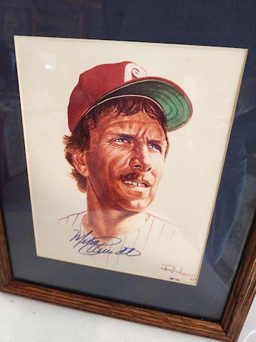 Mike Schmidt, Baseball Signed Portrait