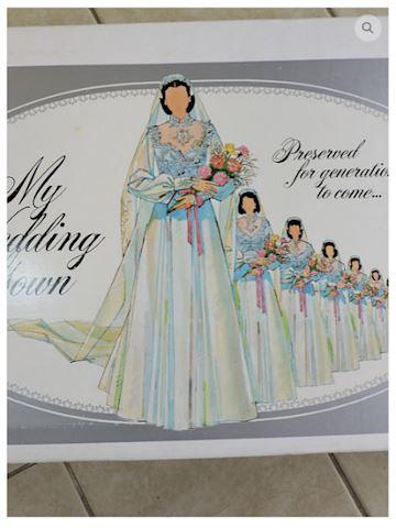 Silk Wedding Dress Size 4 w/ Veil Train UNIQUE