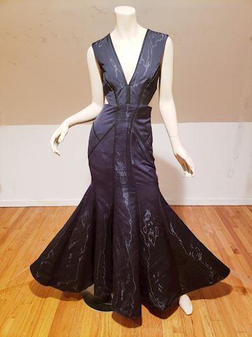 Nicole Miller Black Fluidity Mermaid maxi gown$795