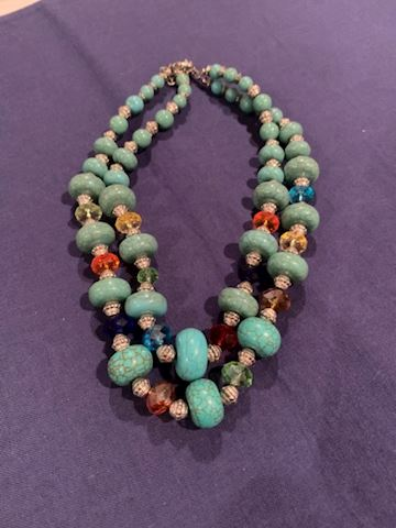 Multi Turquoise Stone Necklace