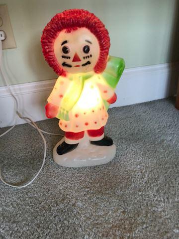Vintage Bobb Merrill Light Up Raggedy Ann