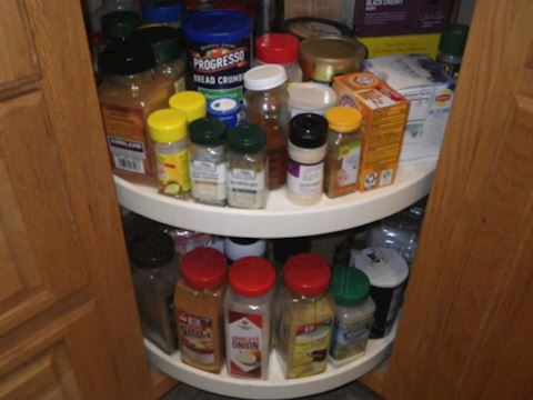 Spices in Cabinet