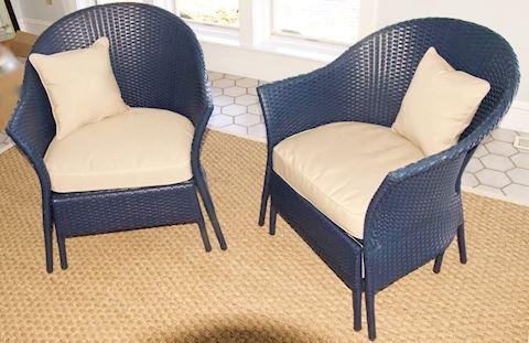 Smith & Hawken Barrel Chairs  - Pair