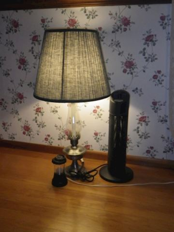 Lamp, Fan, and Small Light