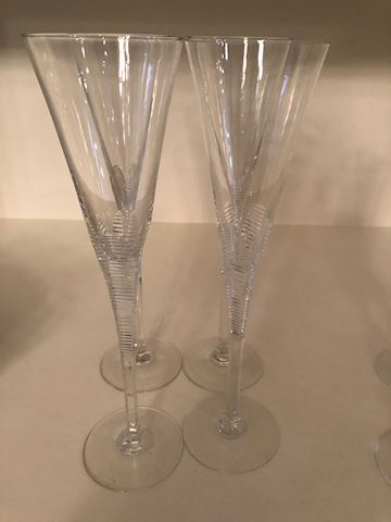 4 large Champagne Glasses