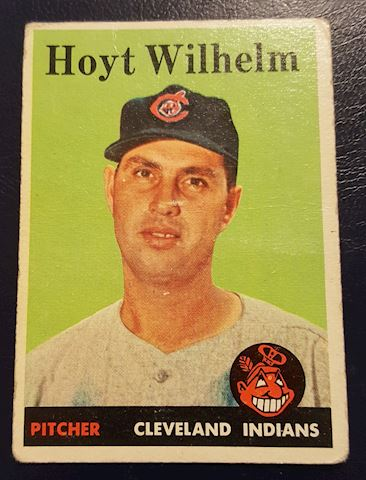 Old Hoyt Wilhelm Cleveland Indians Baseball Card