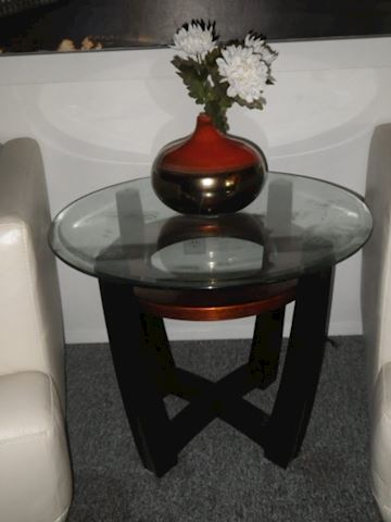Circular Glass Top Table