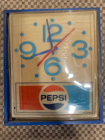 Retro 70's Pepsi Wall Clock