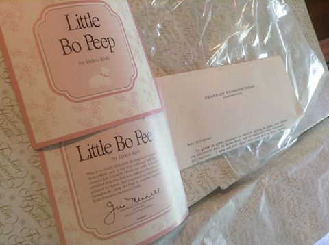 Little Bo Peep Franklin Heirloom Doll NIB