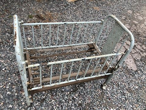Antique Iron Crib