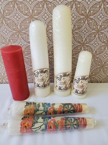 Lot of assorted large candles