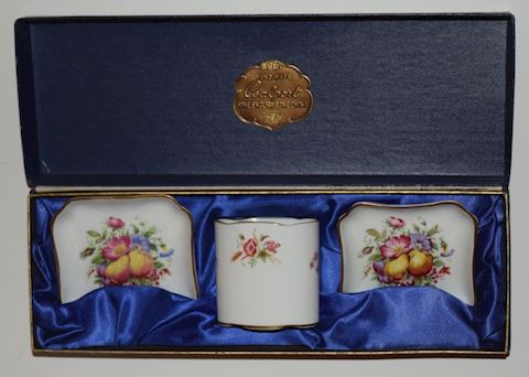 Vintage Coalport English Bone China Smoker Set