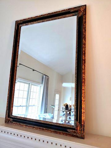 Antique Mirror w/ Inlay Frame