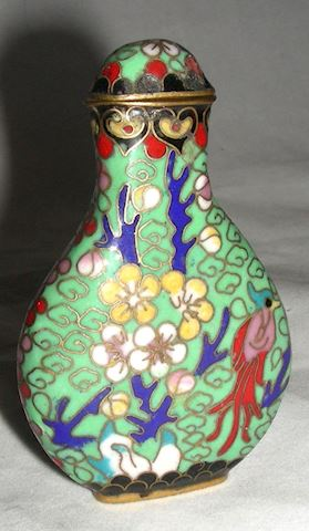 Collectible Chinese Cloisonne Snuff Bottle