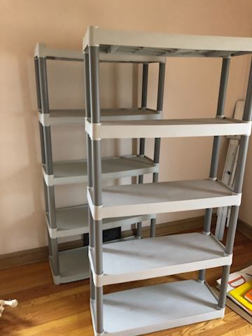 Plastic 5 tier shelf