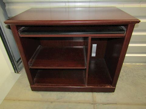 Small Computor Desk with Keyboard Pull Out