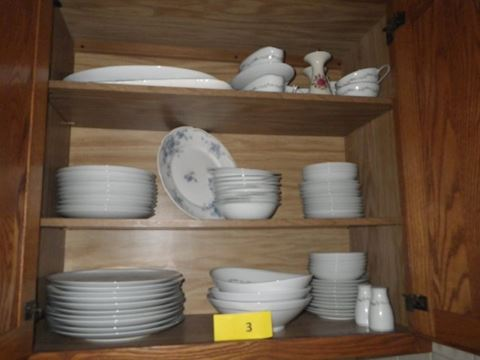 Lot #3 Contents of Kitchen Cabinet