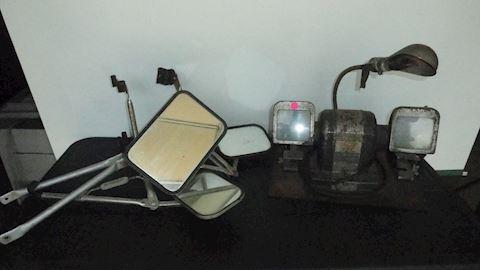 Craftsman bench grinder, 3 truck mirrors Lot # 113
